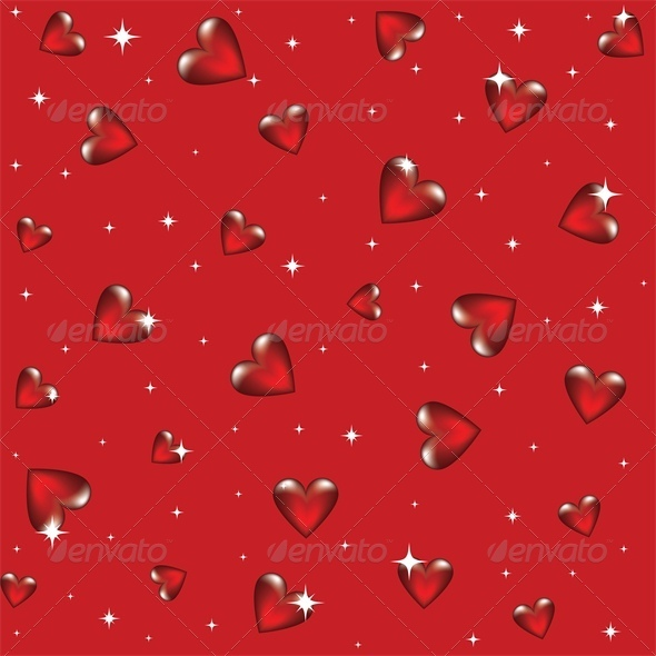 glass hearts - Valentines Seasons/Holidays