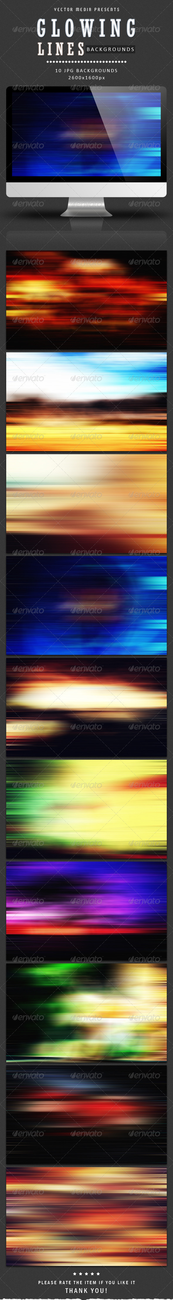 Glowing Lines - Backgrounds - Abstract Backgrounds