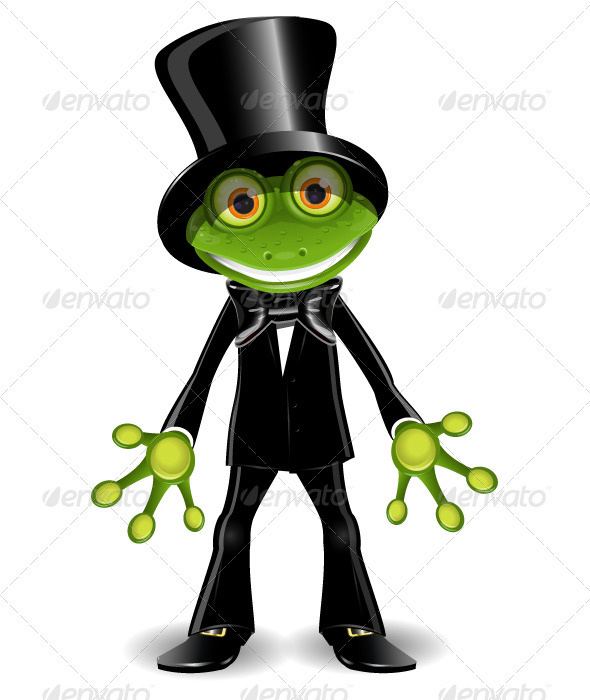 Frog in a Top Hat - Animals Characters