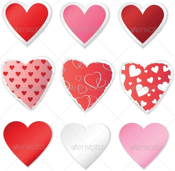 Heart Sticker Set - Valentines Seasons/Holidays