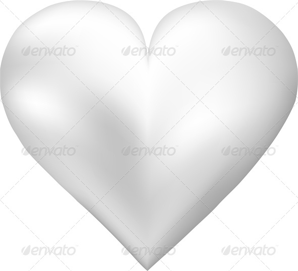White Pearl Shaped Heart - Valentines Seasons/Holidays