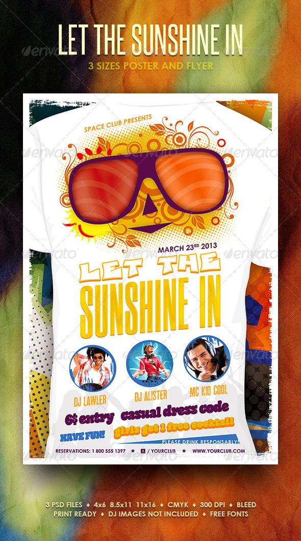 Let The Sunshine In Poster and Flyer - Events Flyers
