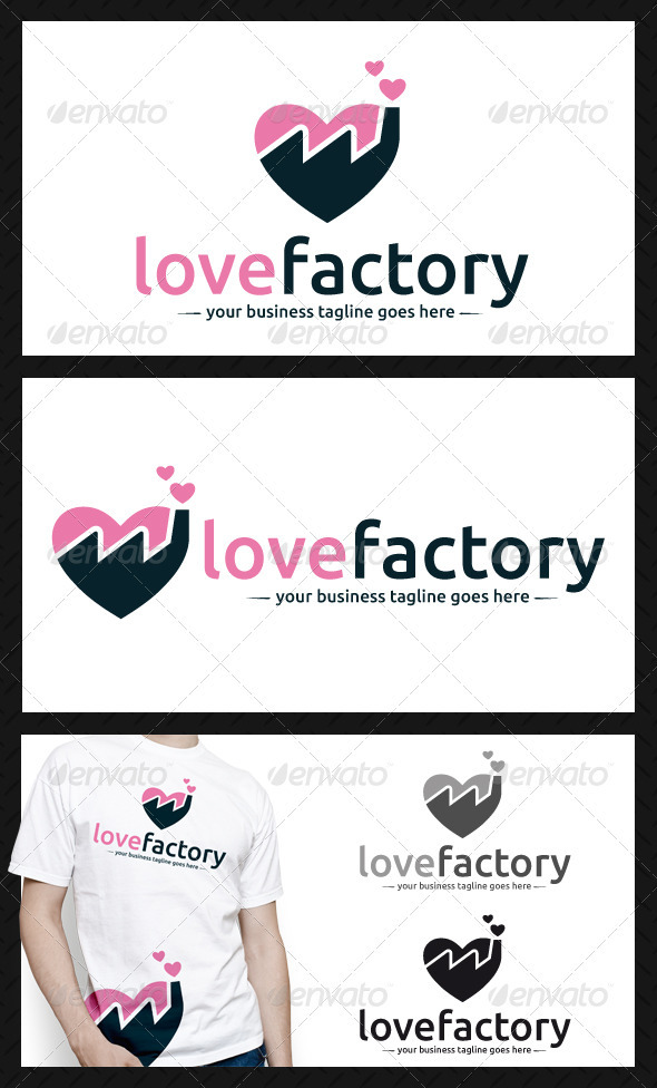 Love Factory Logo Template - Buildings Logo Templates