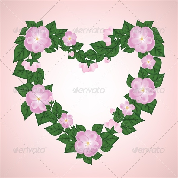 Wreath of Rose Shaped Heart - Valentines Seasons/Holidays