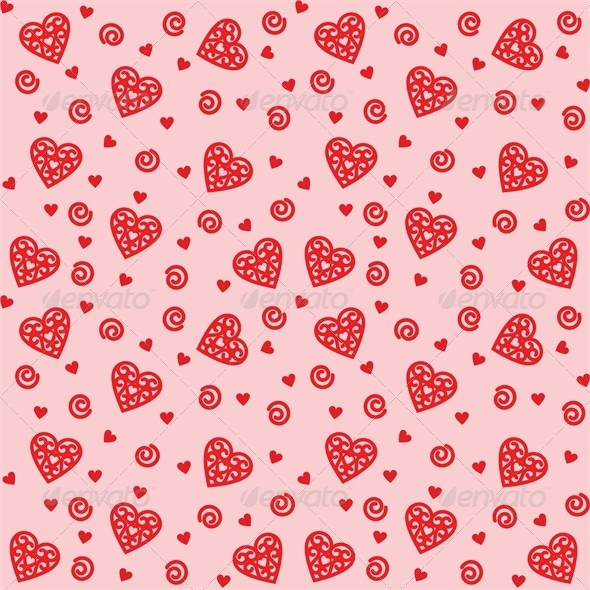 Background with Intricate Hearts - Valentines Seasons/Holidays