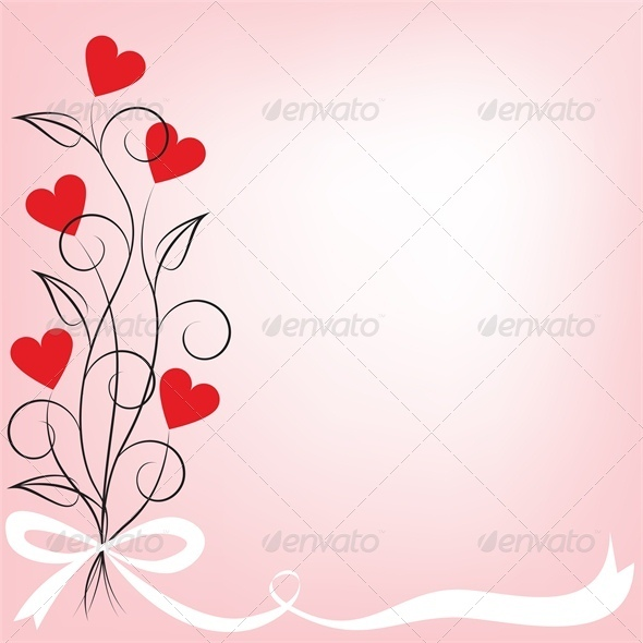 bouquet of flowers shaped hear - Valentines Seasons/Holidays