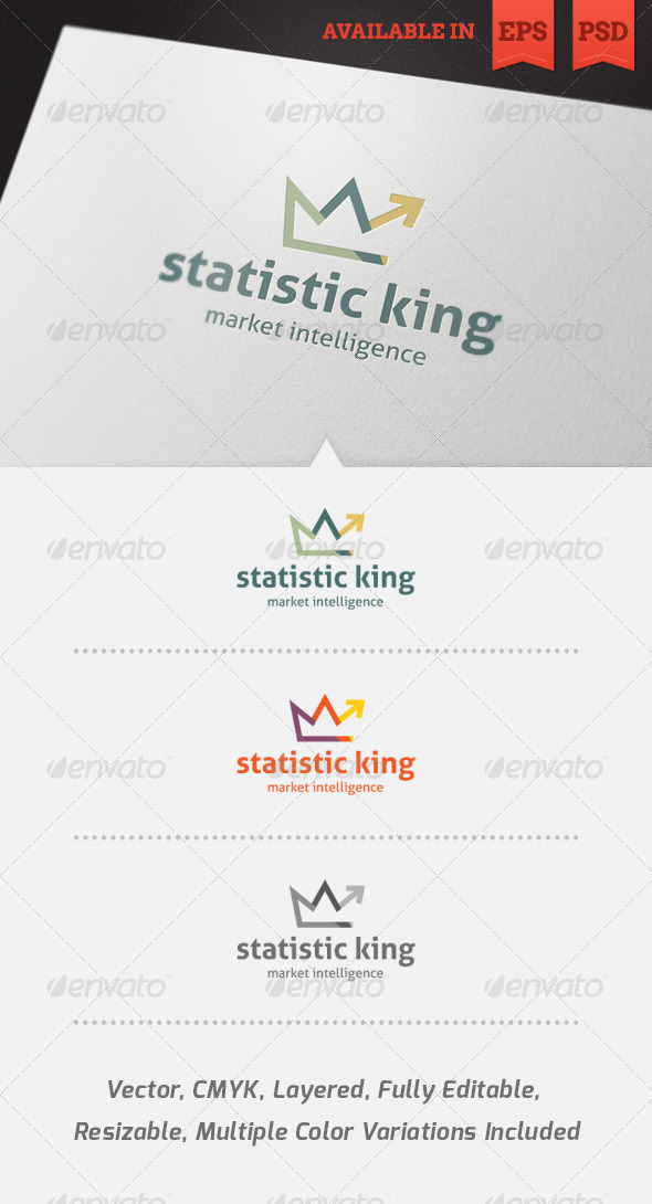 Statistic King Logo Template - Abstract Logo Templates