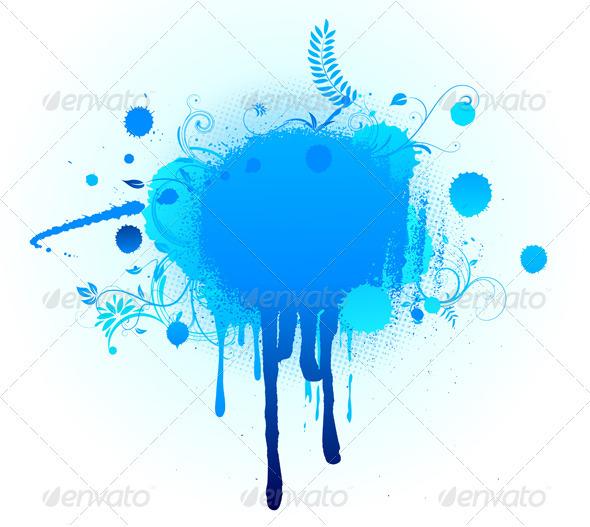 big blue blot - Backgrounds Decorative