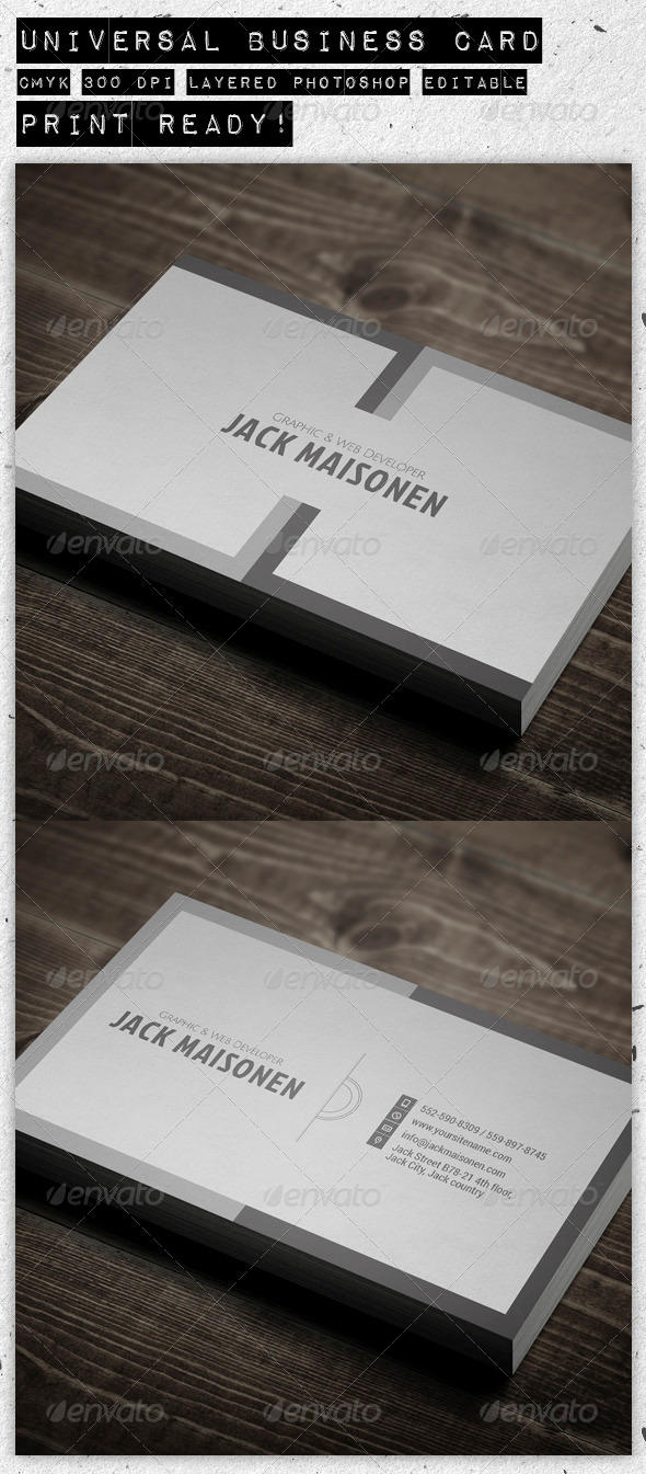 Universal Business Card - Creative Business Cards