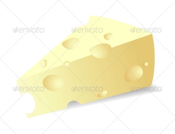 Vector cheese titbit - Food Objects