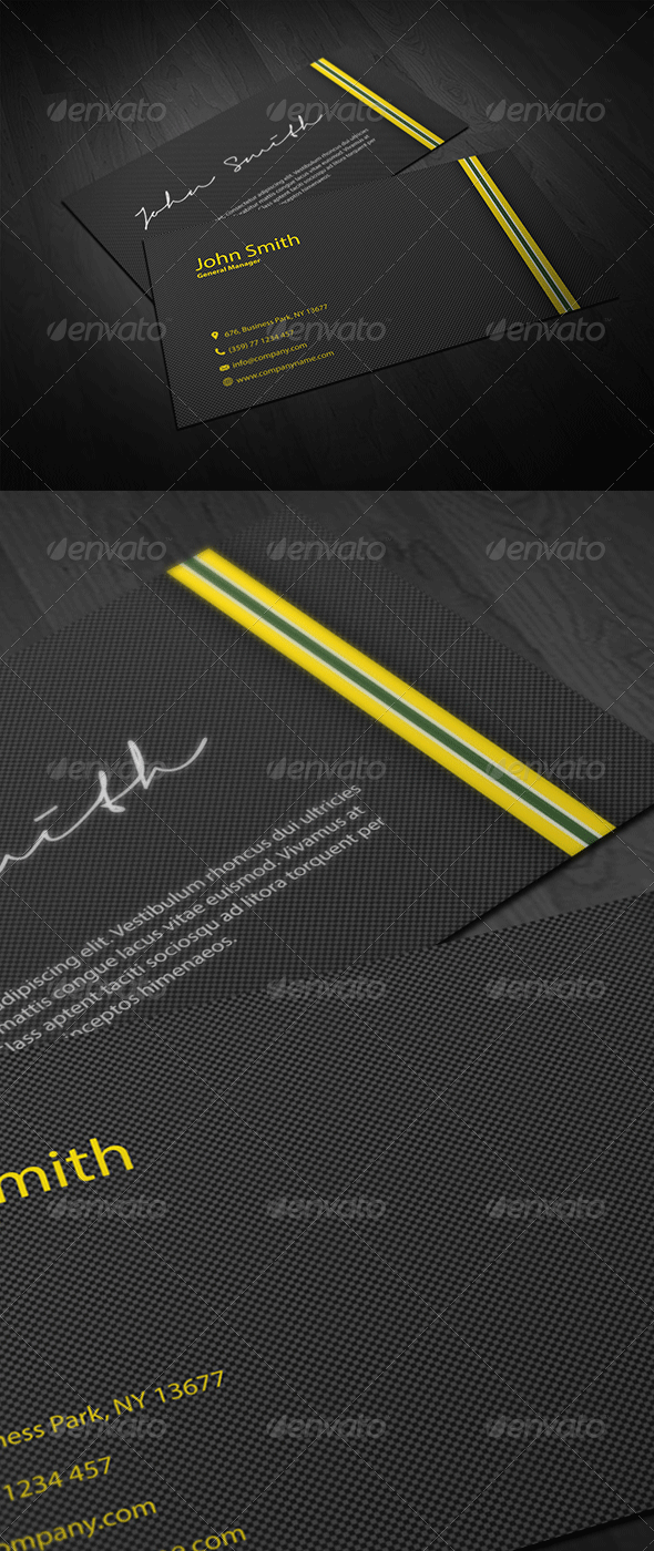 Carbon Fiber Business Card - Corporate Business Cards