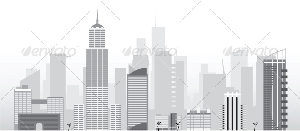 Vector City - Buildings Objects