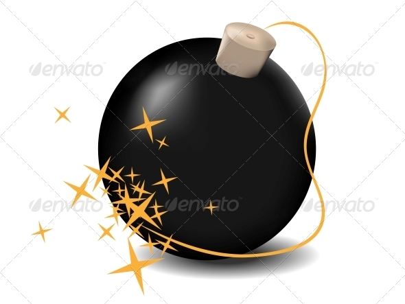 Vector Black Bomb - Web Elements Vectors