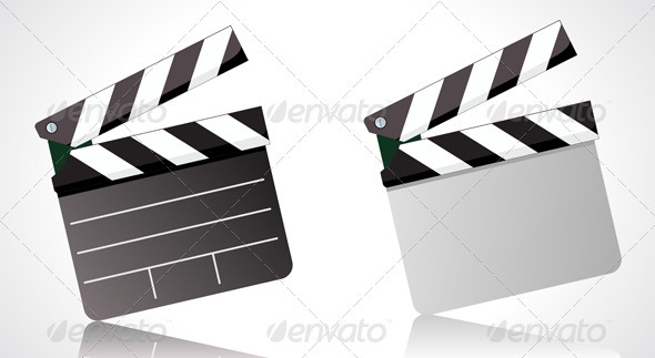 movie clapper board - Objects Vectors