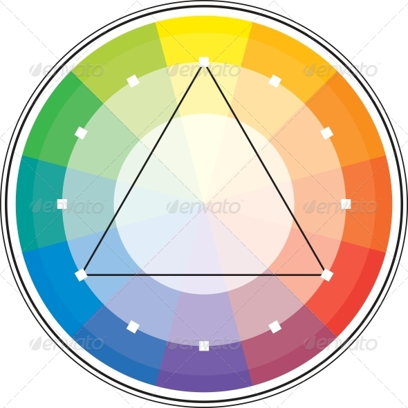 Color Triangle - Abstract Conceptual