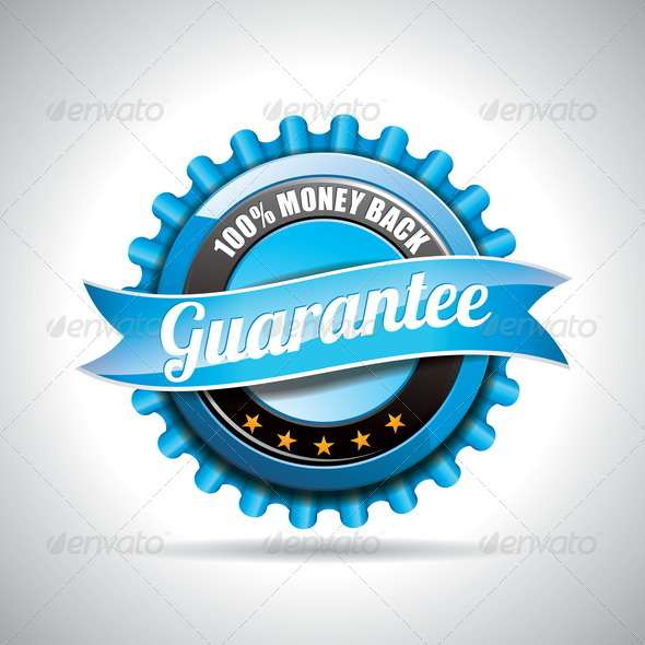 Vector Guarantee Labels Illustration. - Web Elements Vectors