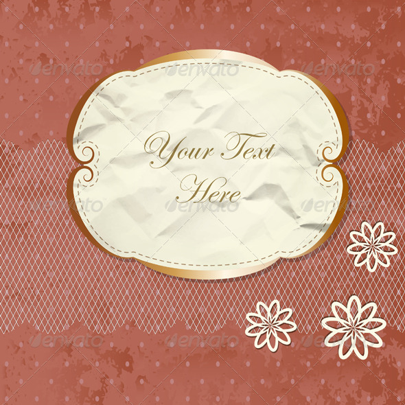 Romantic Lacy Border With Flowers - Backgrounds Decorative