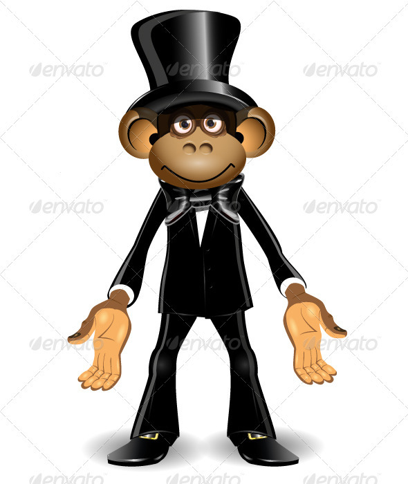 Monkey in a Top Hat - Animals Characters
