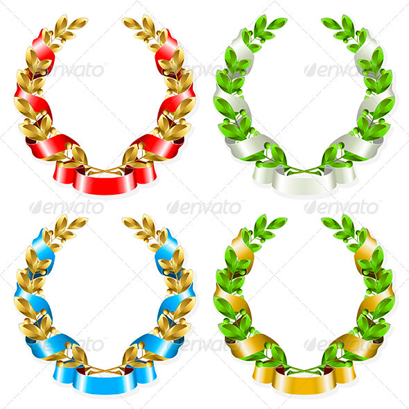 Laurel wreath - Decorative Symbols Decorative