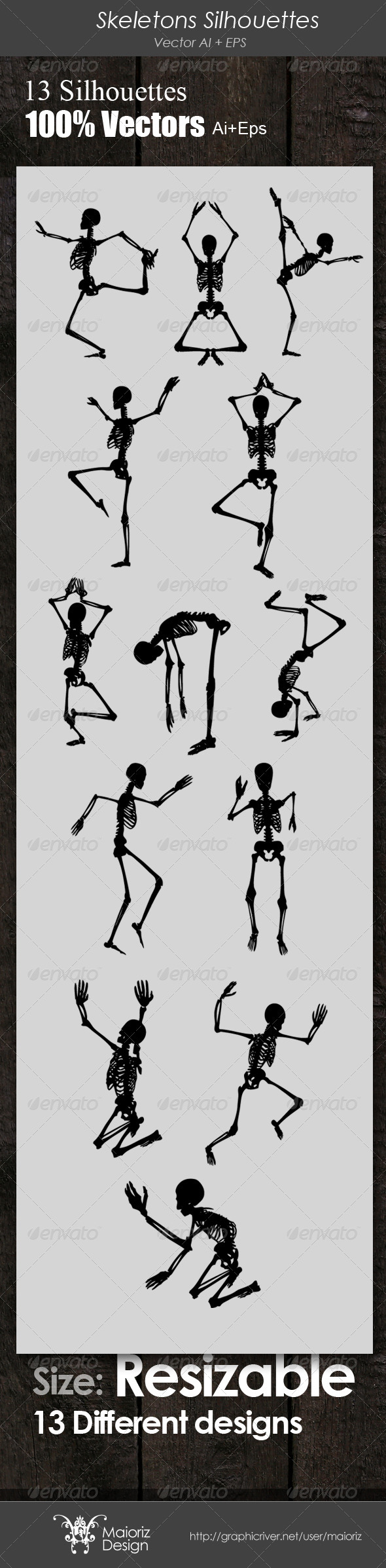 Skeletons Silhouettes - Miscellaneous Characters