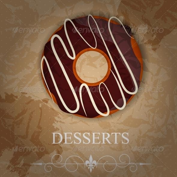 Vector Dessert Menu - Food Objects