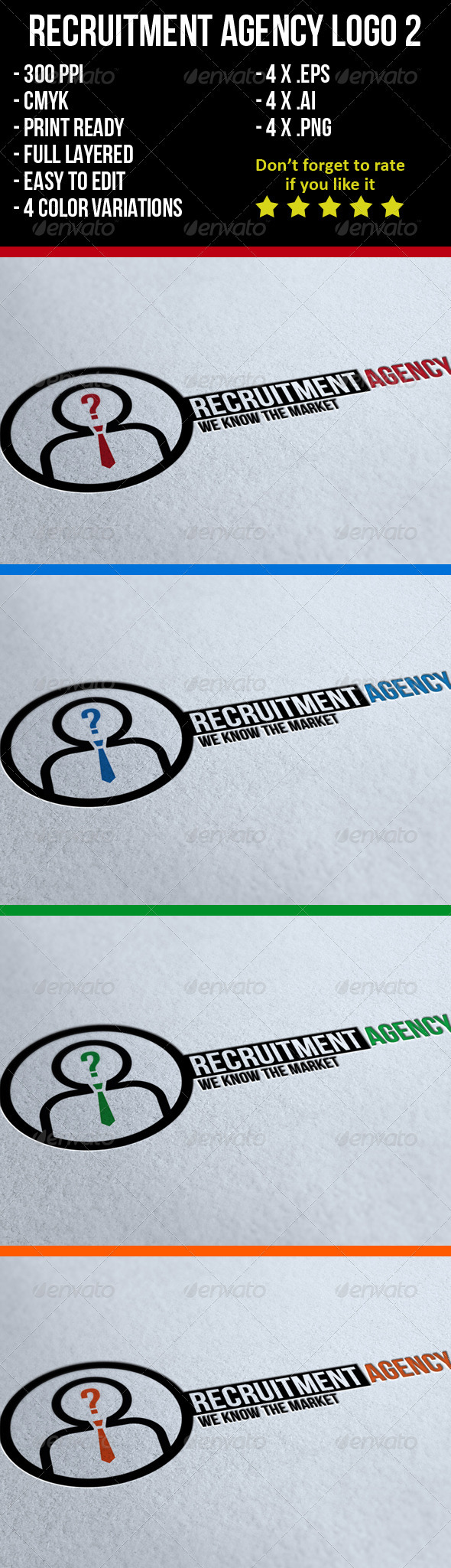 Recruitment Agency Logo 2 - Humans Logo Templates