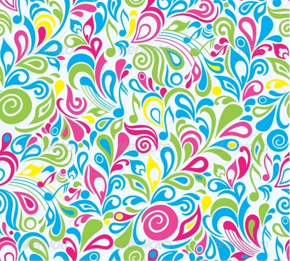 Decorative colourful musical background - Patterns Decorative