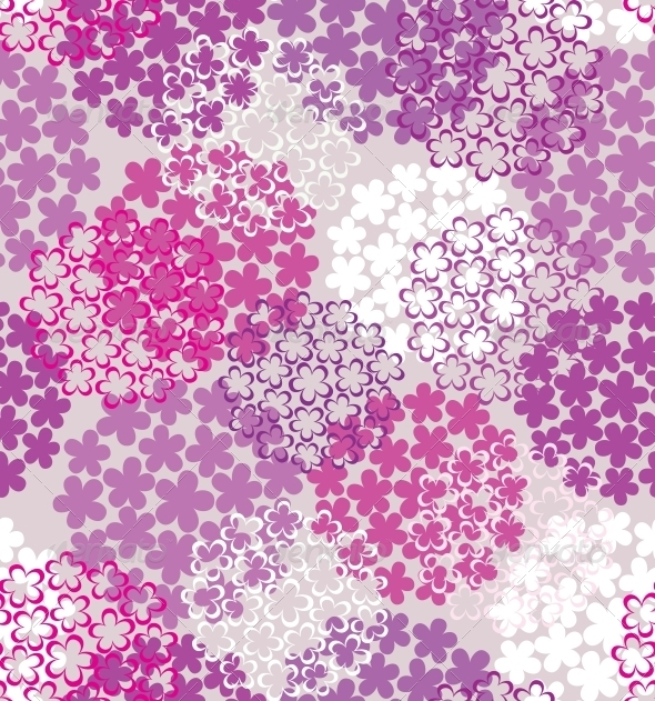 Decorative seamless flower background - Patterns Decorative