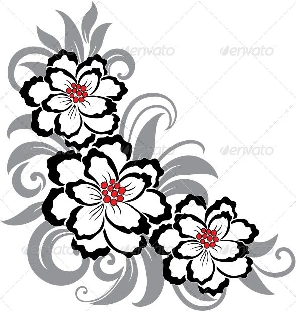 Decorative floral illustration - Flowers & Plants Nature