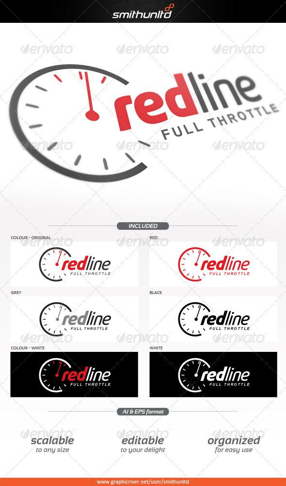 Redline - Full throttle Logo template - Objects Logo Templates