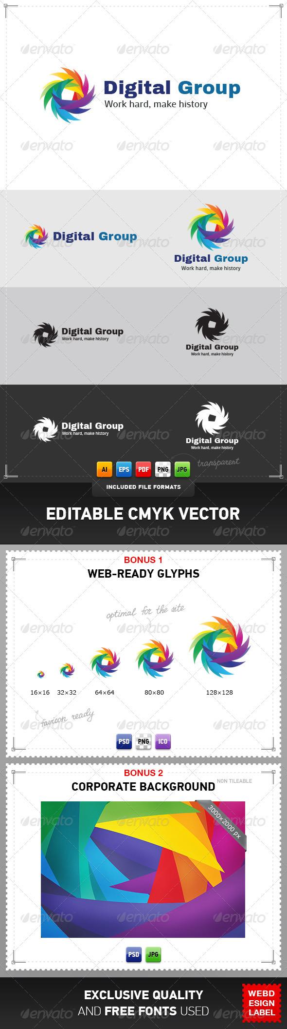 Digital Group Logo - Vector Abstract