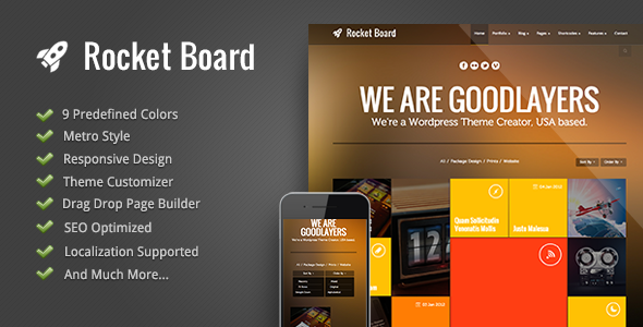 Rocket Board - Metro WordPress Theme