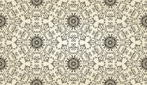 Vector Vintage Seamless Pattern - Patterns Decorative