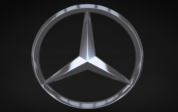 Mercedes Logo - 3DOcean Item for Sale