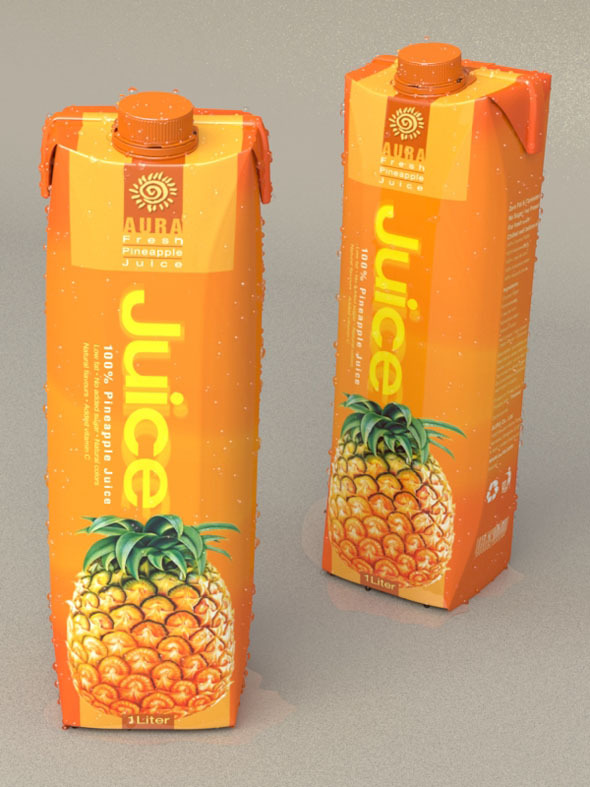 1 Liter Carton Packaging - 3DOcean Item for Sale
