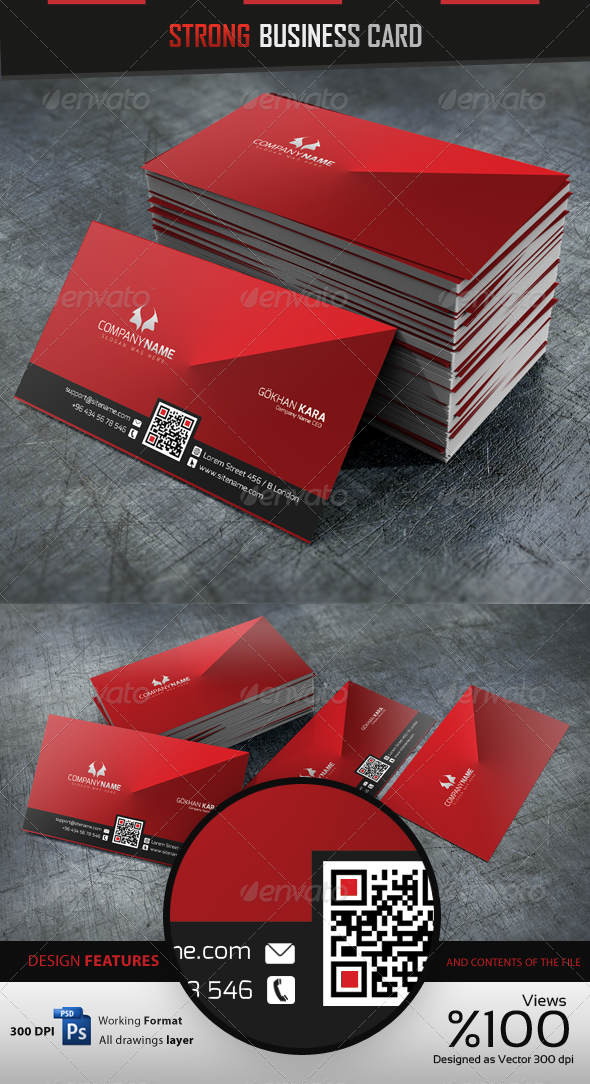 Strong - Business Card - Corporate Business Cards