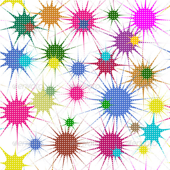 Abstract Colorful Stars - Patterns Decorative