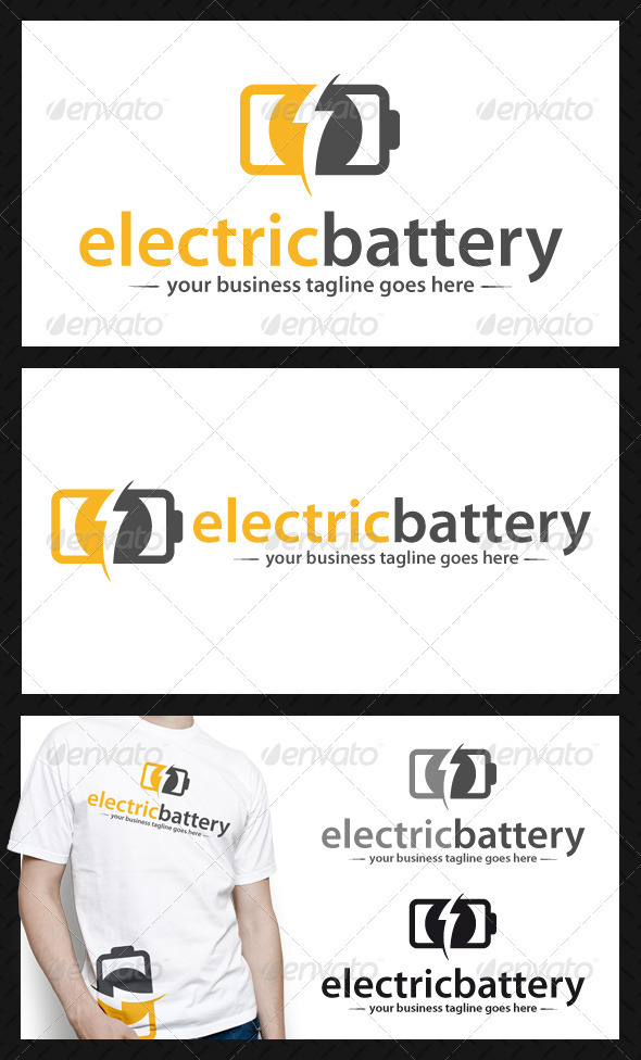 Electric Battery Logo Template - Symbols Logo Templates