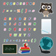 Colorful Alphabet Letters Stickers - GraphicRiver Item for Sale