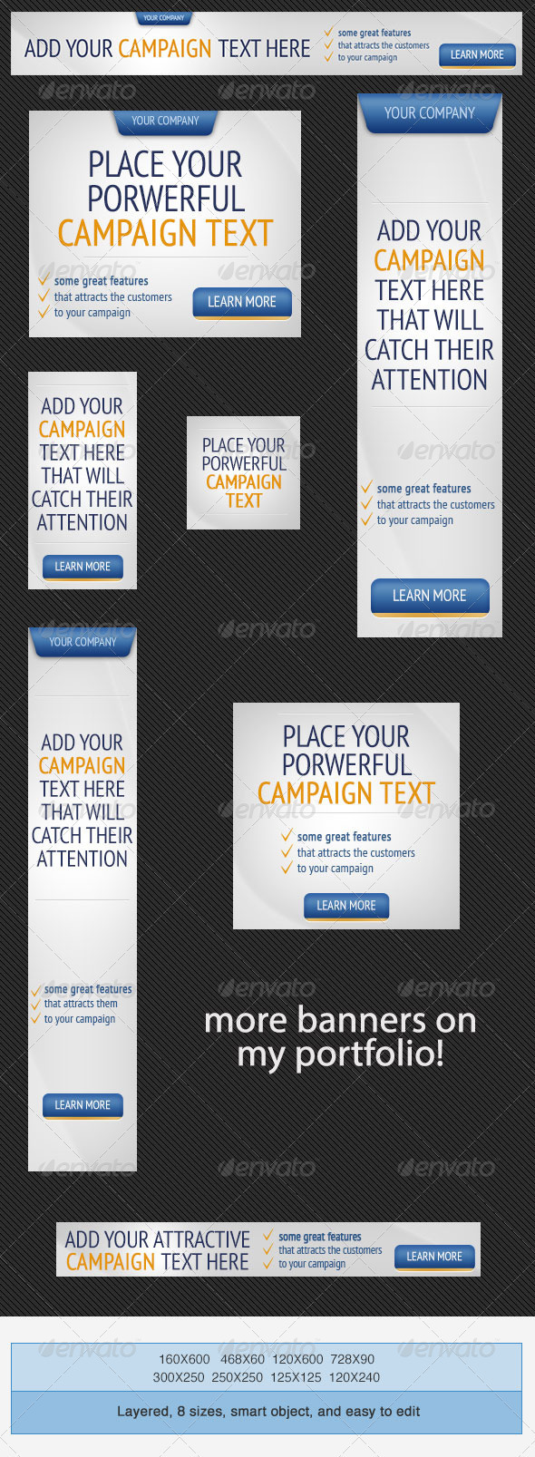 Web Marketing PSD Banner Ad Template - Banners & Ads Web Elements