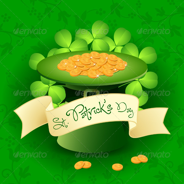 St. Patricks Day Card with  Leprechaun Hat - Seasons/Holidays Conceptual