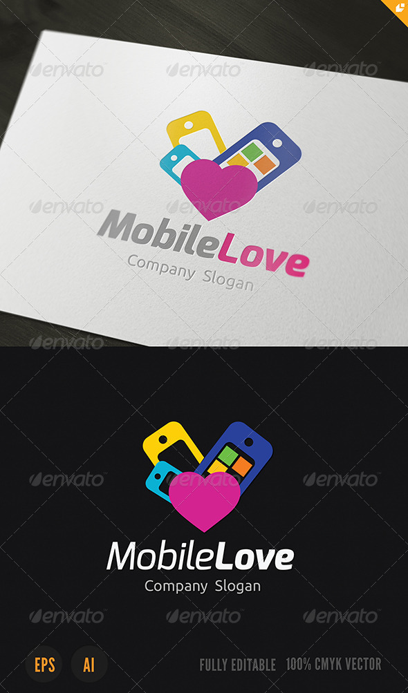 Mobile Love Logo - Objects Logo Templates