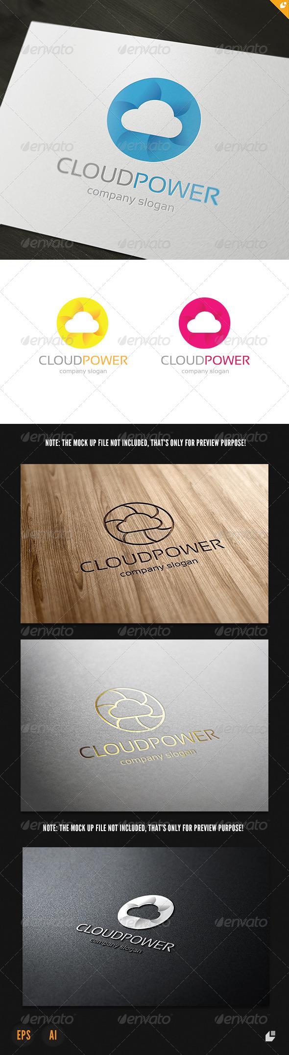 Cloud Power Logo - Nature Logo Templates