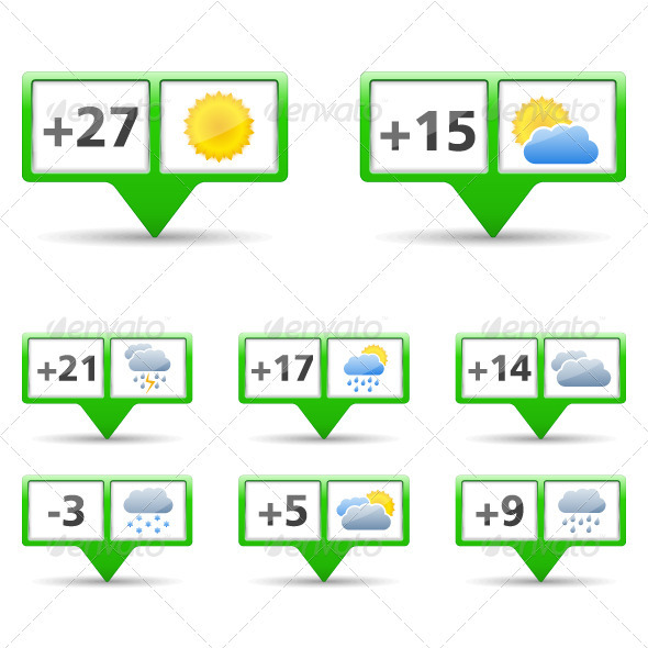 Weather Icons - Web Elements Vectors