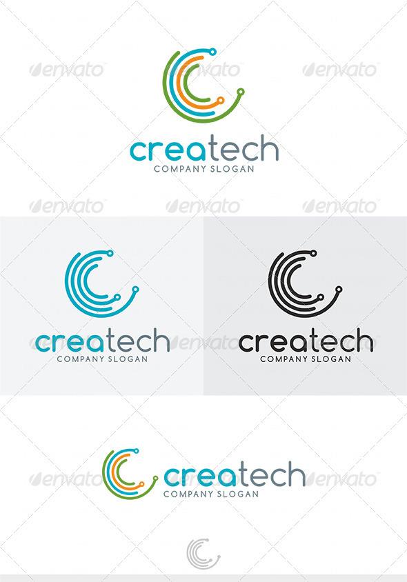 Crea Tech Logo - Letters Logo Templates