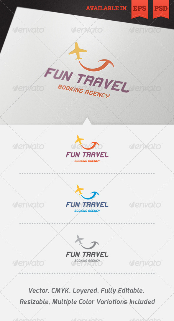 Fun Travel Logo Template - Objects Logo Templates
