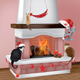 Fireplace and Christmas Cats - GraphicRiver Item for Sale