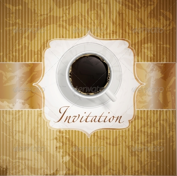 coffee invitation background - Food Objects