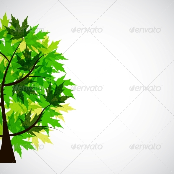 Abstract Vector spring tree illustration - Miscellaneous Conceptual