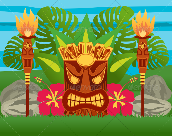 Tiki Statue by ragerabbit | GraphicRiver